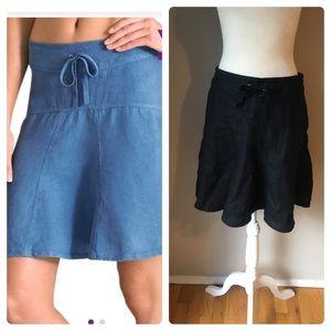 Athleta Daydream Linen Skirt Size 4 Black EUC